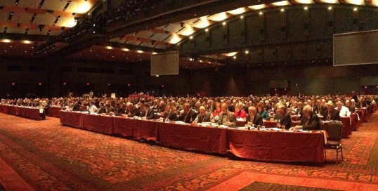 The complete delegate body of the 95th Annual American Farm Bureau Federation Annual Meeting.