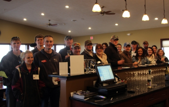 Nebraska Young Farmers & Ranchers Conference Attendees tour and taste Miletta Vista Winery!