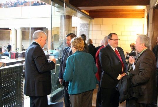 Nebraska Farm Bureau members from across the state speak with their State Senators at Legislative Conference! #NFBFLegConf14