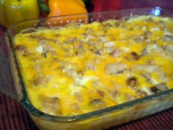 Receipe - 3 cheese turkey,chicken bake