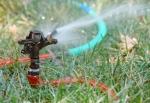 Sprinkler watering a lawn or garden
