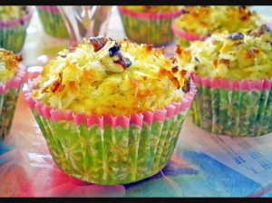 Pg A5 - Recipes- Banana Coconut Pecan Muffins