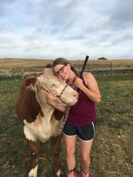 amanda with cow