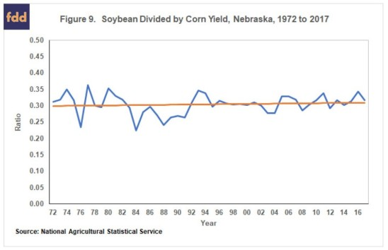 corn v soybean yields